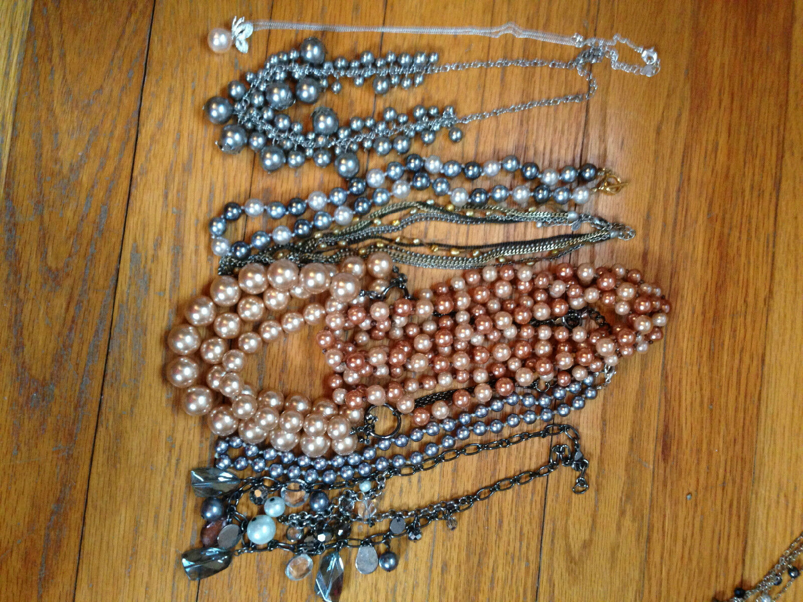 Costume Jewelry Lot Mixture of necklaces, and bra… - image 1