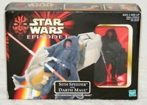 NEW-1998-Star-Wars-Episode-1-Sith-Speeder-and-Darth-Maul-with-Probe-Droid