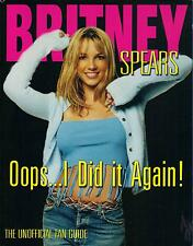 BRITNEY SPEARS  Oops I Did It Again  large paperback book