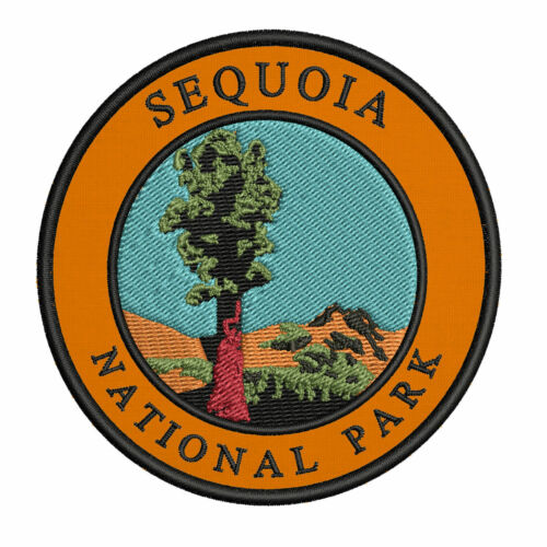 Sequoia National Park Embroidered Patch Iron//Sew-On Applique Wander Souvenir