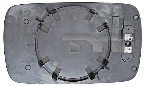 Side Mirror Glass Convex Heated RIGHT Fits BMW E34 Sedan Wagon 1988-1997