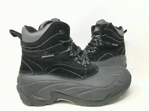 NEW! Out Land Men's Lace Up Hiking Boots Black/Grey #0000327393 181D