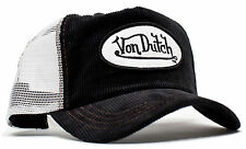 VON van DUTCH MESH TRUCKER BASE CAP [CORD BLACK/WHITE] HUT MÜTZE BASECAP KAPPE