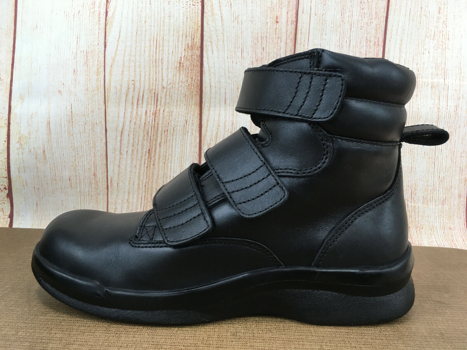 Apex Ambulator Biomechanical Triple Strap Blk Boot BV4200MM65 Men Sz 6.5 M A77(5