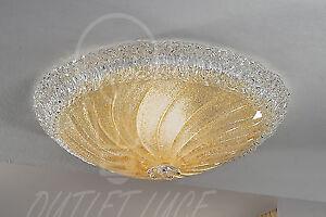 Plafoniere Camera Da Letto : Plafoniera lampada soffitto vetro artistico bianco oro classica