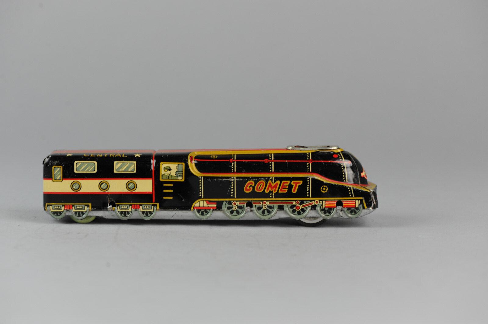 Antique Tin ToyMarusan Hayashi Comet Train Japan Friction Drive Drive Drive Collectors f10fdf