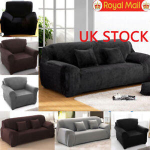 1 2 3 Sofa Covers Couch Slipcover Stretch Elastic Fabric Settee
