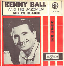 """KENNY BALL & HIS JAZZMEN – When I'm Sixty-Four (BEATLES SONG 7"""" RARE DUTCH PS)"""