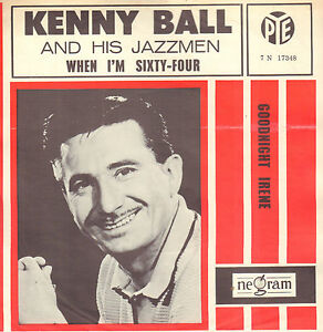 KENNY-BALL-amp-HIS-JAZZMEN-When-I-039-m-Sixty-Four-BEATLES-SONG-7-034-RARE-DUTCH-PS