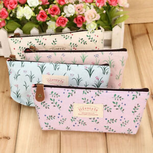 New-fashion-Flower-Floral-fabric-Pencil-bag-pen-case-School-Supplies-For-Girls