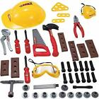 Little Handyman Repair Toy Tool Set Pretend Play Construction&Safety Accessories