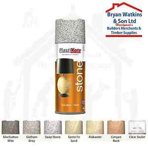 Plastikote Stone Touch Textured Spray Paint 7 Colors 400ml