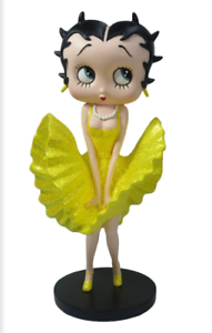 Collectible Ornament Figurine NEW Betty Boop Cool Breeze 32cm Gold Glitter