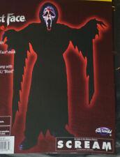 8-10 Boys Halloween Costume Ghost Face Scream Scary 6 pc Size  Medium