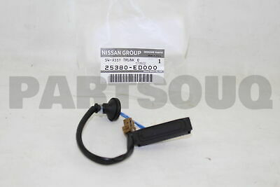 Genuine Nissan 25380-ED000 Trunk Opener Switch Assembly