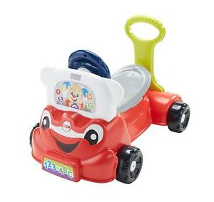 Fisher Price Laugh & Learn 3 en 1 voiture intelligente, voiture interactive à pousser interactive 887961738063