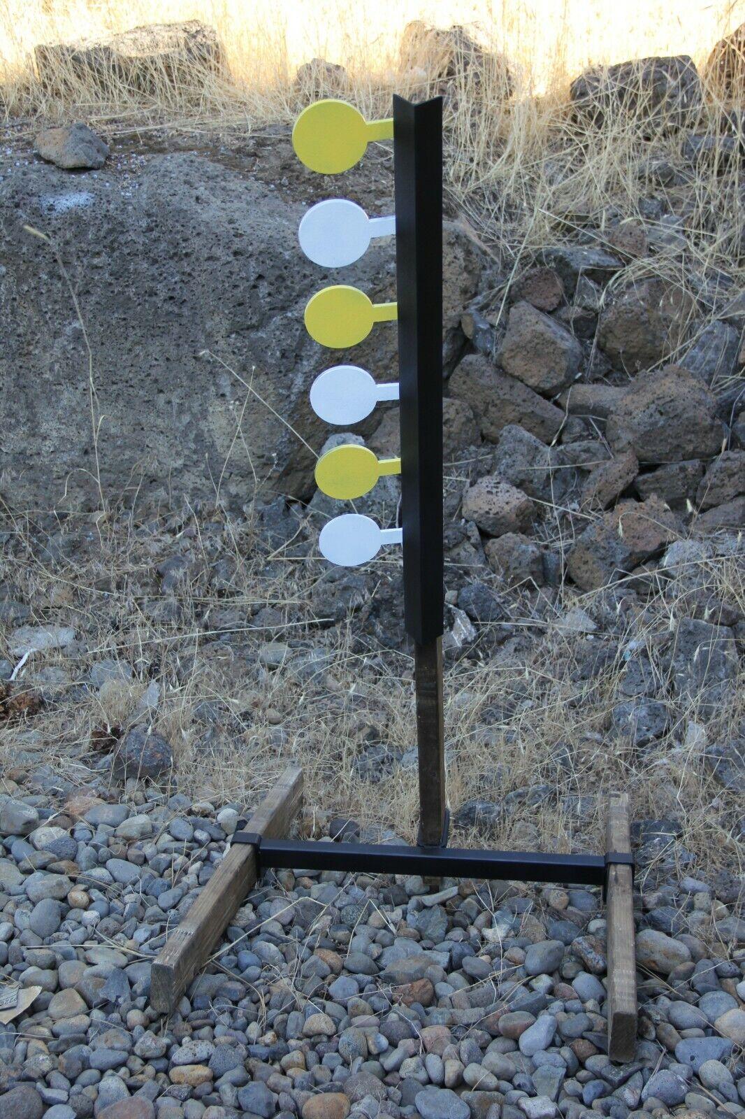 Objetivo de árbol de duelo Combo Set (6 Rimfire y 6 Gran Conjunto de Paletas AR500)