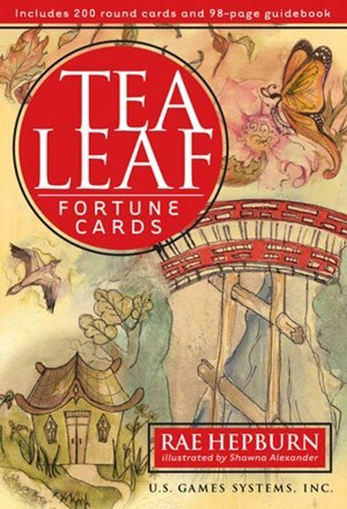 Tea Leaf Fortune Cards and Book. Full Size, Illustrated.