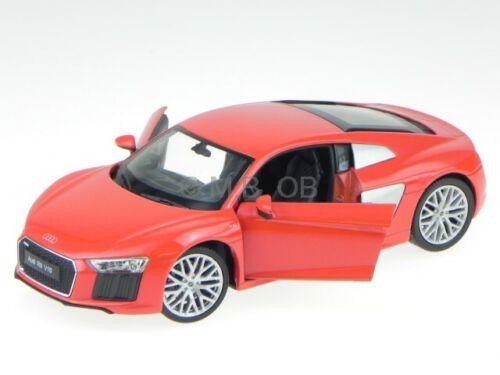 Audi R8 V10 2016 rot Modellauto 24065 Welly 1:24