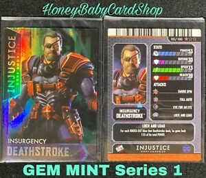 Injustice Arcade GEM MINT Series 2 Card 3 Insurgency Deathstroke Holofoil