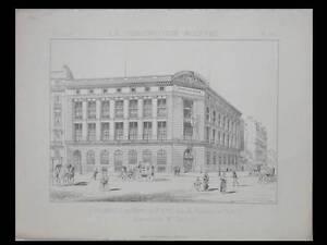 PARIS, MONT DE PIETE, RUE DE RENNES - 1888 - PLANCHE ARCHITECTURE