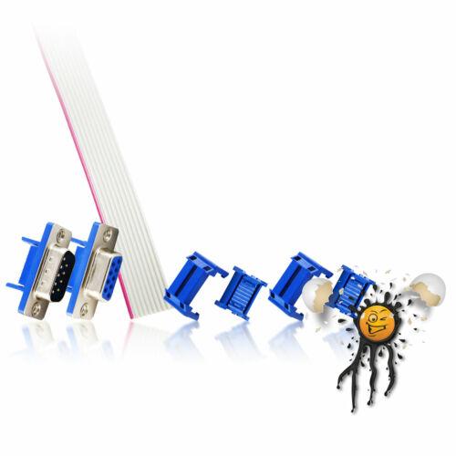 DB9 RS232 serial UART Crimp female 1 m Kabel male Verbinder Connector Set