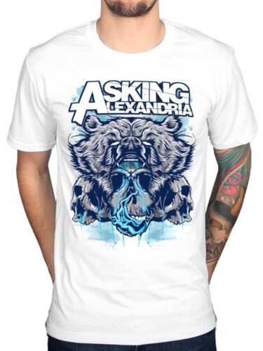 Official Asking Alexandria Bear Skull T-Shirt Afterlife Rock Roll Reckless Album