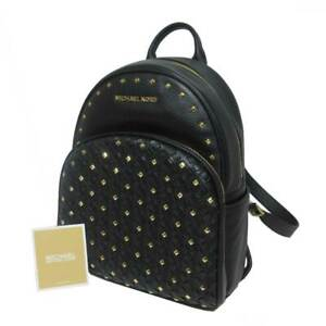 5f3958e20a45 Image is loading NWT-Michael-Kors-Abbey-Medium-Studded-Backpack-Leather-