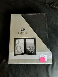 New-BURNES-OF-BOSTON-Black-Double-Hinged-5x7-Picture-Photo-Frame