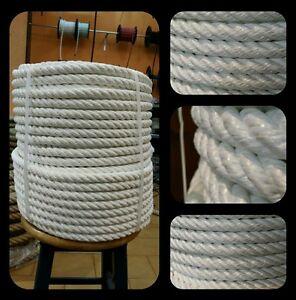 Corde Cordage Tressée Nylon 20mm X 100metros Mouillage Amarrage Ring Boxe