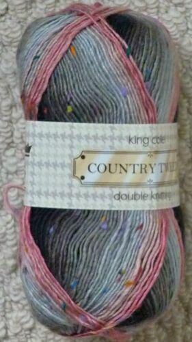 DK Knitting Wool 100g Country Tweed DK Yarn King Cole