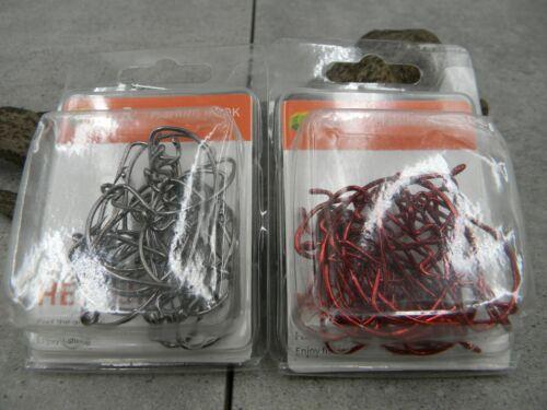 grau oder rot Jig Haken 30 Stück in Blister-Box Offset DropShot