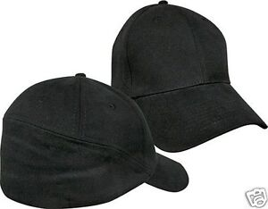 26bb007fdaa31 Mens Baseball Hat Black Rear View Blank Cap Curved Brim Medium Large ...