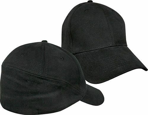Mens Baseball Hat Plain Black Rear View Cap Curved Brim Medium ... 8b31b2c64b6