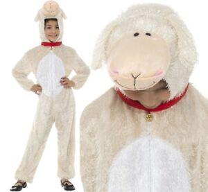 Ragazzi Ragazze PECORA AGNELLO COSTUME ANIMALE Natività Natale Costume Vestito bambino