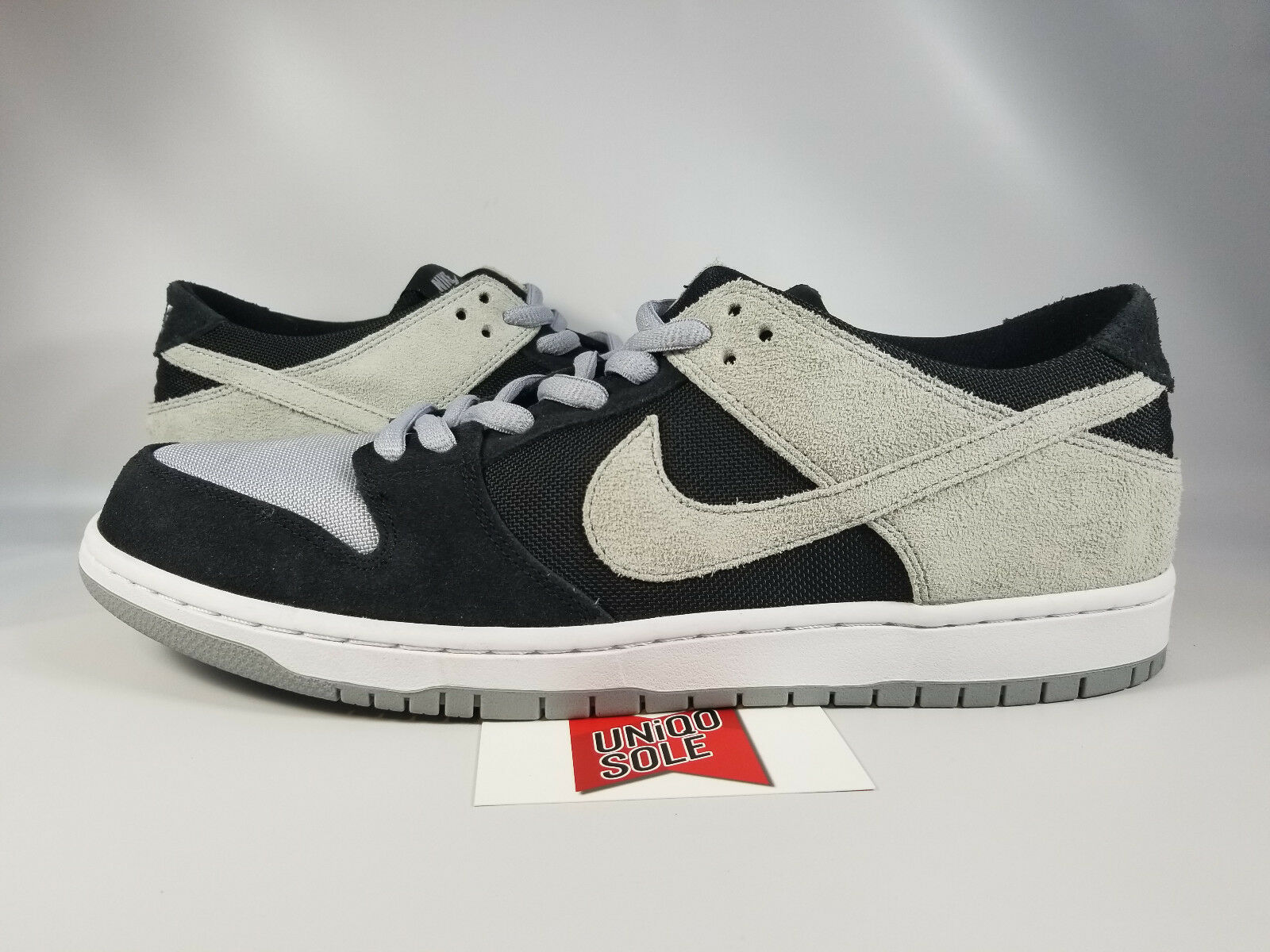 Nike SB Zoom Dunk Low BLACK SHADOW WOLF GREY SUEDE 854866-001 Price reduction