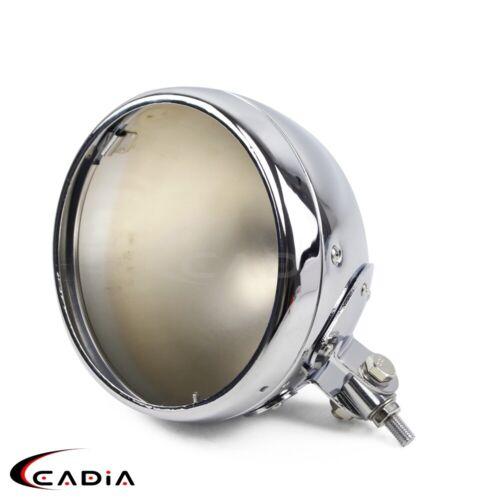 "7/"" Motorcycle Headlight Chrome Housing Headlamp Light Bulb Bucket For Harley"