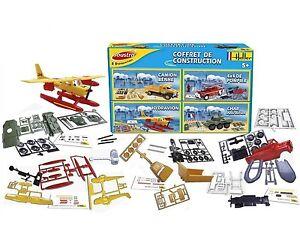 Heller Joustra 40042 - Coffret Construction 4 Modèles Avion Char 4x4 Bétonniere