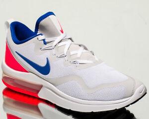 Details zu Nike Air Max Pelz Herren Run Sneakers Neu Weiß Ultramarin Rot Aa5739 141