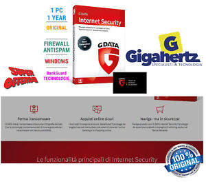 G data internet security 2019 1 PC 12 months GData Full ...