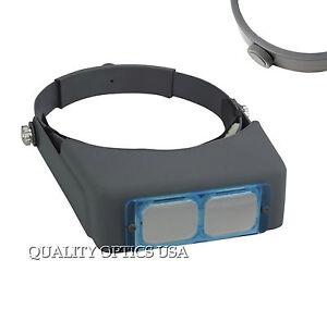 New-2X-10-034-Distance-Optical-Glass-Lens-Headband-Head-Visor-Magnifier-Binocular