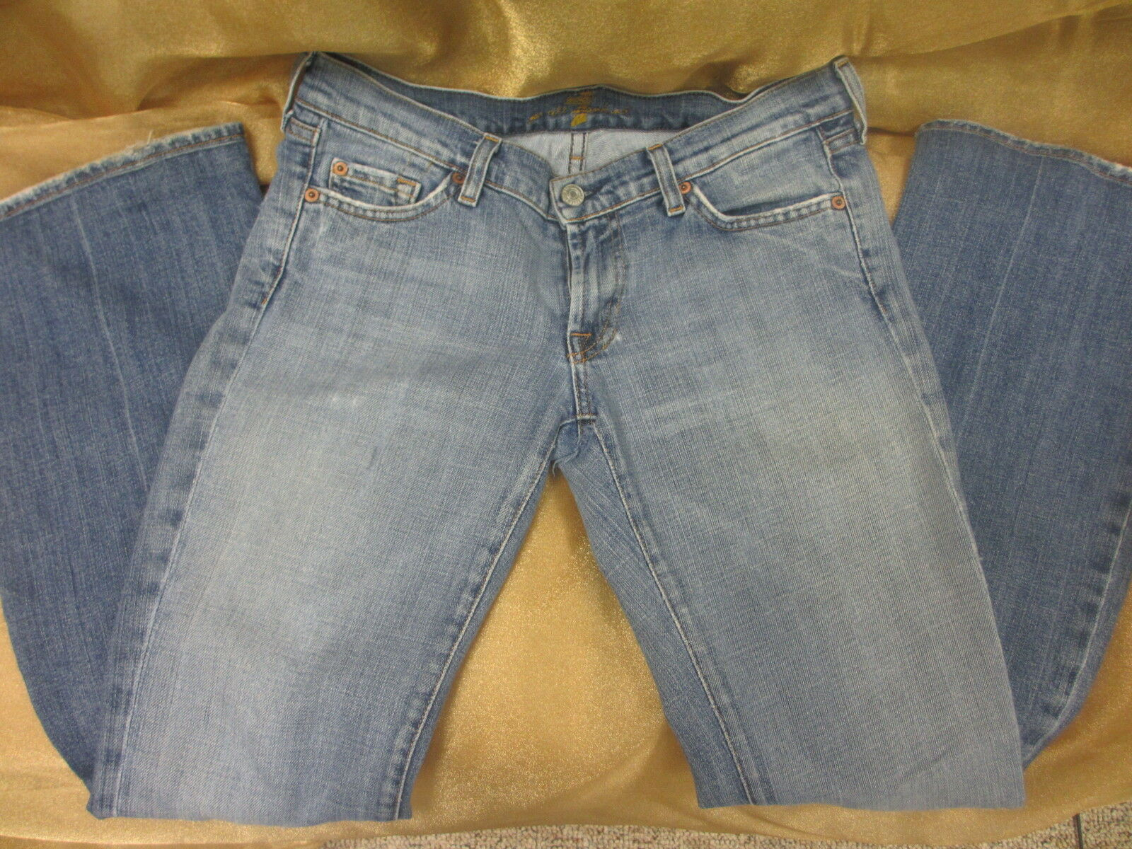 7  for all mankind worn jeans size 28 flare legs