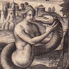 Gravure XVIIIe Cadmus Hermione ??????? Thèbes Kadmos Serpent Snake