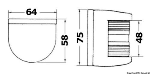Utility77 Navigationslicht//Navigationsleuchte weiß// 112,5° rechts grün