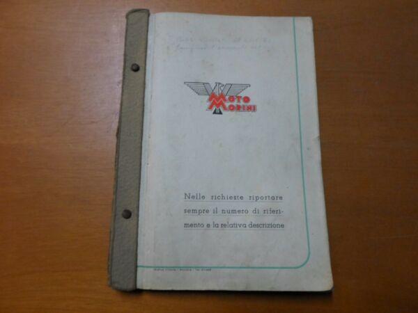 Espressive Manuale Ricambi Moto Morini Turismo - Super Sport 1946 - 52 - Originale