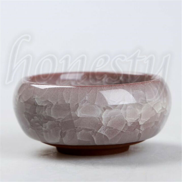 Ice-Crack Glaze Flower Ceramics Succulent Plant Pot Office Flowerpot Decor