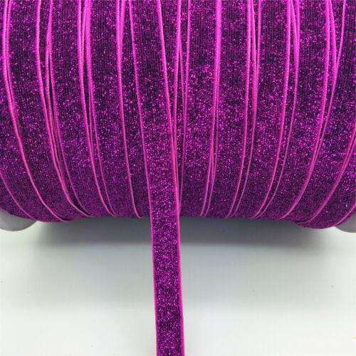 "New DIY 5 10 20 50 yards 3//8 /""10mm Velvet Ribbon Headband Clips Bow Decoration J"