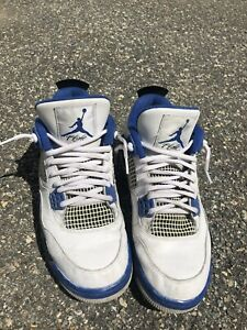 2017-Air-Jordan-4-IV-Motorsport-Mens-White-Blue-Retro-Size-9-5