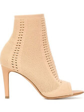 Gianvito Rossi Vires 85mm peep toe boots nude