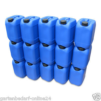 10 Stück 10 Liter Kanister blau Camping Plastekanister Wasserkanister NEU DIN51.